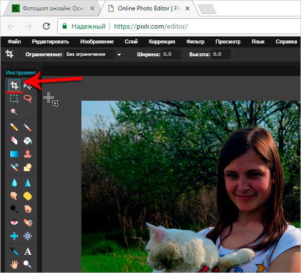 фото онлайн подрезать