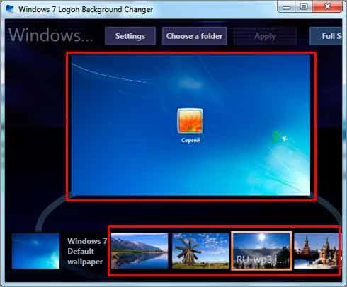 Изменить Экран Приветствия Windows 7 Программа