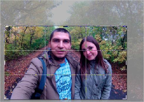 обрезать фото в фотошопе